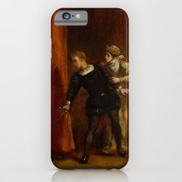 "Eugène Delacroix ""Hamlet and His Mother"" iPhone Case"