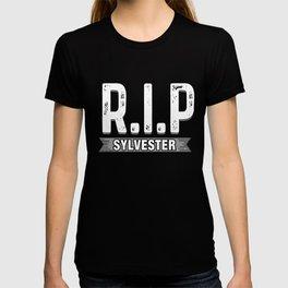 RIP Sylvester Funny Death Hoax Practical Joke Prank Gift T-shirt