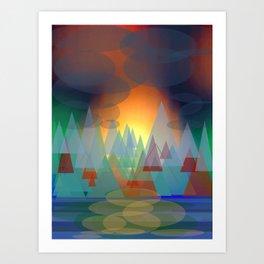 Alpine Sunset Art Print