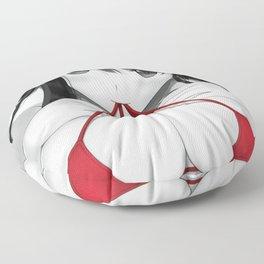 Red Lingerie II Floor Pillow