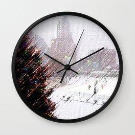 Alex & Ani Skating Center - Providence, Rhode Island Winter Scene Portrait by Jeanpaul Wall Clock