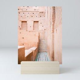 Colors of Marrakech Morocco - El badi palace photo print   Pastel travel photography art Mini Art Print