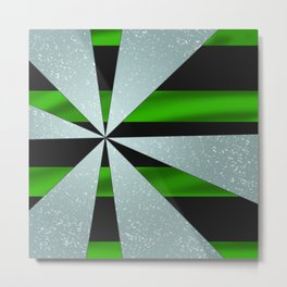 4Shades Glass: Green Black Metal Print