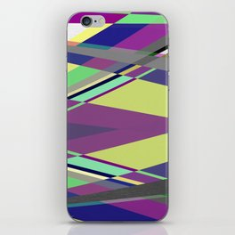 Crossed Paths - abstract, geometric, intersecting pastel shapes iPhone Skin
