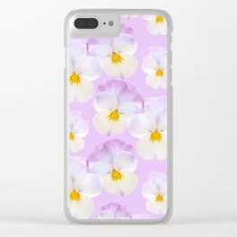 Pansies Dream #2 #floral #pattern #decor #art #society6 Clear iPhone Case