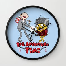 Time For a Big Adventure Wall Clock