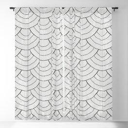 Black and white sashiko Blackout Curtain