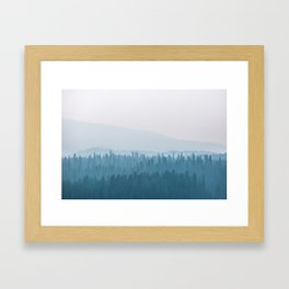 Into the Blue Framed Art Print