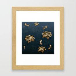Golden Rose - Glitter Pattern Framed Art Print