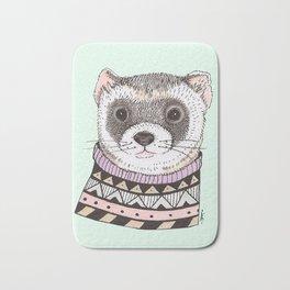 Hipster Ferret Bath Mat