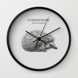 The European hedgehog (Erinaceus europaeus) Wall Clock