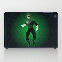 green lantern iPad Cases featuring Green Lantern by The Vector Studio