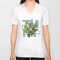 tmnt V-neck T-shirts featuring TMNT by Ryan Liebe