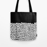 knit Tote Bags featuring Half Knit by Project M