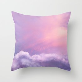 Sunset and Clouds | Blush Pink | Unicorn | Sky Throw Pillow