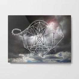 Dark Sky Geometry Drawing Metal Print