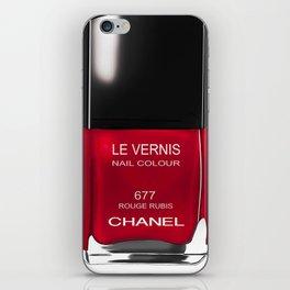 Nail Polish Rouge Rubis iPhone Skin