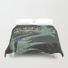Books Collection: Robinson Crusoe Duvet Cover