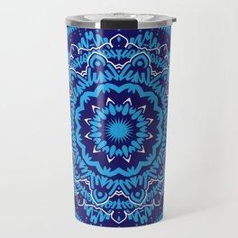 Mandala 010 Blue Mix Travel Mug