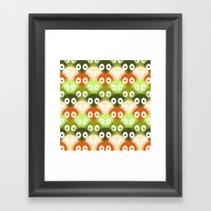 susuwatari pattern (color version) Framed Art Print