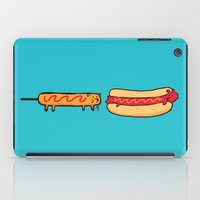 eat iPad Cases featuring Dog Eat Dog World by Picomodi