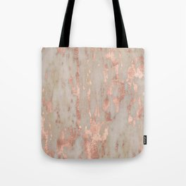 Rose gold Genoa marble Tote Bag