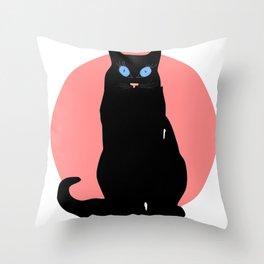 Miss cat Throw Pillow