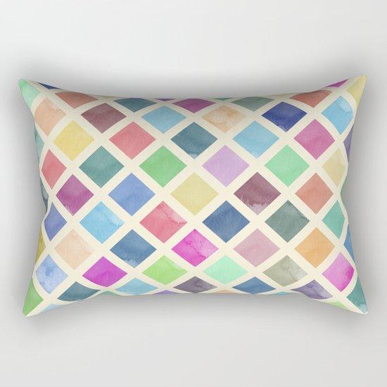 Watercolor geometric pattern Rectangular Pillow