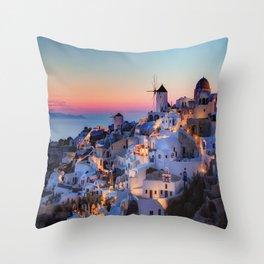 Santorin1 Throw Pillow