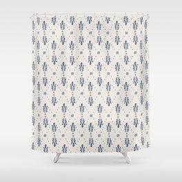 Indigo Meadow Shower Curtain