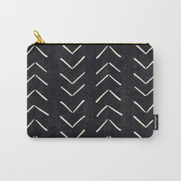 Mudcloth Big Arrows in Black and White Carry-All Pouch