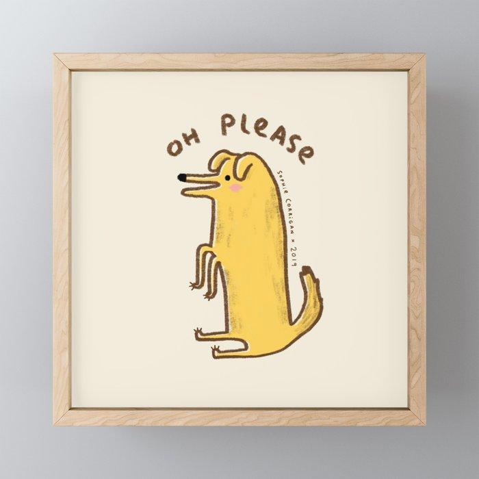 Honest Dog Framed Mini Art Print