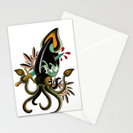 Giant squid Stationery Cards