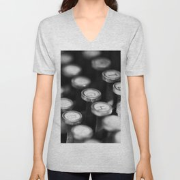 Typewriter keys Unisex V-Neck