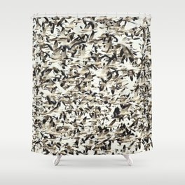 Snow Geese Migration Shower Curtain