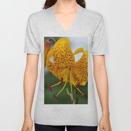 Yellow Spotted Lily by Teresa Thompson Unisex V-Neck