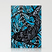 shark Stationery Cards featuring Shark by Lonica Photography & Poly Designs