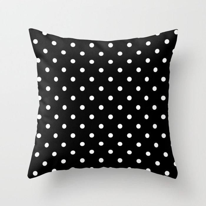 Black & White Polka Dots Deko-Kissen