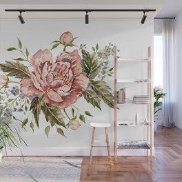 Pink Wild Rose Bouquet Wall Mural