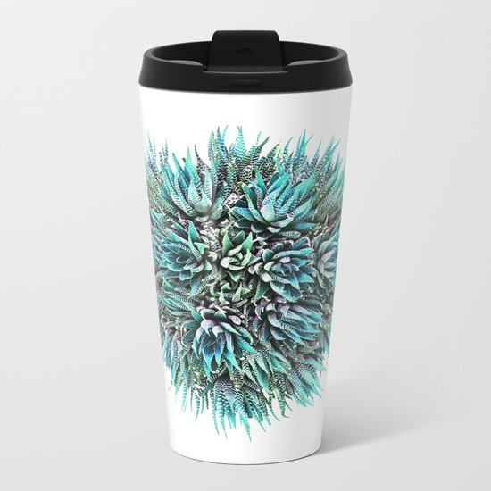 Cactus Crown 1. Blue & Green #decor #buyart Metal Travel Mug