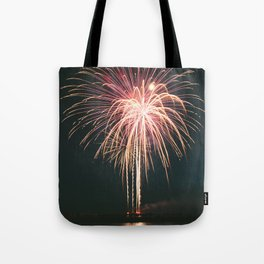 Fireworks Over Lake Michigan in Manistee Tote Bag