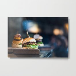Freshly Grilled Burgers Metal Print