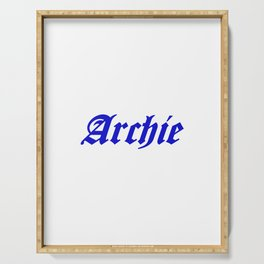 Archie Text Serving Tray