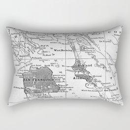 Vintage Map of San Francisco California (1905) Rectangular Pillow