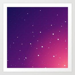Geometric violet pattern Art Print