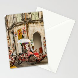 George Town, Penang Trishaw Break Stationery Cards