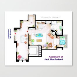 Jack MacFarland's apartment from 'Will and Grace' Canvas Print