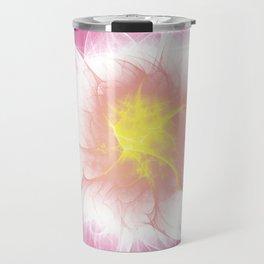 Pink Flower Fractal Travel Mug