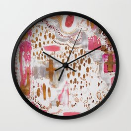 Cross your T's Wall Clock