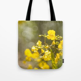 Popcorn Flower Bokeh Delight Tote Bag